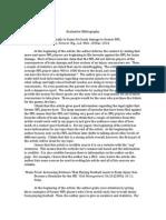 evaluative bibliography 2