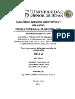 EROSIÓN Y TRANSPORTE DE SEDIMENTOS DE ARRATRE Y SUSPENSION EN LA CUENCA DEL RIO MOCHE