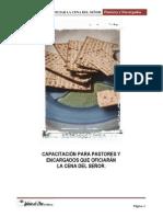 MANUAL PARA OFICIAR LA CENA DEL SEÑOR-Pastores y Encargados