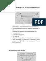 Elemnetos Geometricos de La Seccion Transversal de Un Canal