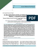 In Vitro Antioxidant Activity of Guibourtia Tessmannii