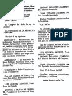 Ley 16447 - Reconociendo a Las Profesiones Odonto-Estomatologica y Quimico Farmaceutico Como Profesionales Medicos