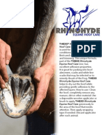 Rhinohyde Equine Hoof Care Sell Sheet