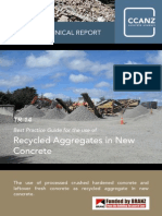 Recycled Aggregates in New Concrete