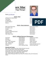 Directing Resume 2014