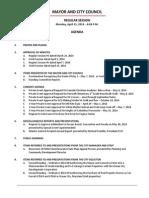 April 21 2014 Complete Agenda