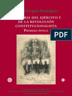Historia del Ejército y de la Revolución Constitucionalista--Primera Época