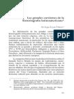 Las grandes corrientes de la historiografía latinoamericana