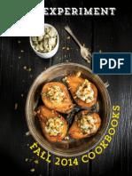 The Experiment Fall 2014 Cookbook Brochure
