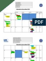 Calendario de Pruebas 2014