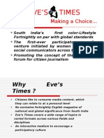 Eve's Times Presentation Ad- 21.8.09