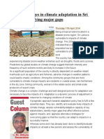 Policy Challenges in Climate Adaptation in Sri Lanka Identifying Major Gaps