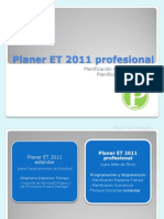 Presentacion PlanerET 2011 Profesional Esp
