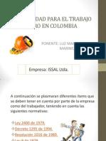 Normatividad Para El Trabajo Seguro en Colombia