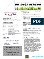 April 17 Newsletter