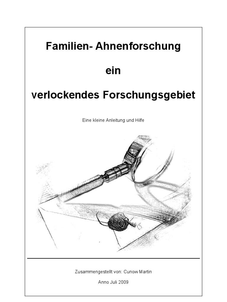 Familie - Ahnenforschung ein verlockendes Forschungsgebiet