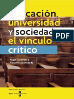 Educación universidad y sociedad