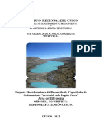 Memoria Descriptiva - Hidrografico Region Cusco