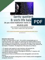 Sanity Quotient