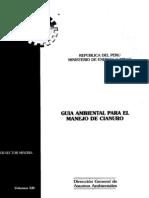 Guía Ambiental para el manejo de Uso de Cianuro - DGAAM