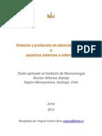 Oratoria y Protocolo en El Trato Al Usuario