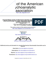 10 Journal Watch Review of Short-Term Dynamic Psychotherapy Versus Pharmacotherapy for Major Depressive Disorder