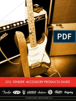 2012 Fender Accessories PriceList