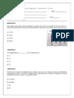 avaliaçao diagnostica com matriz de referencia - 6º ano