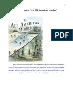 """Addendum to """"An All-American Murder"""""""