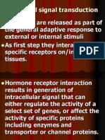 Hormonal Signal Transduction