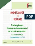 28 Magnetoscopie Et Ressuage - Principes Et Incidences - Cetim