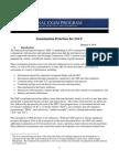 National Exam Program - Examination Priorities for 2014