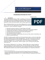 National Exam Program - Examination Priorities for 2014