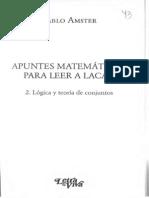 214704179 Amster Apuntes Matematicos Para Leer a Lacan 2 Logica y Teoria de Conjuntos (1)