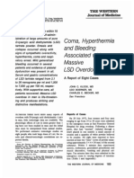 Coma, Hyperthermia and Bleeding Associated with Massive LSD Overdose