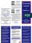 1999 Taxpayers League of Minnesota Scorecard
