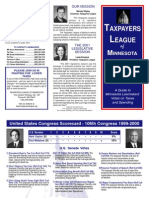 2001 Taxpayers League of Minnesota Scorecard