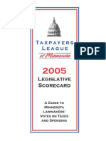 2005 Taxpayers League of Minnesota Scorecard
