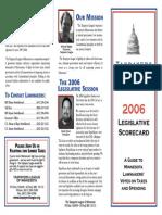 2006 Taxpayers League of Minnesota Scorecard