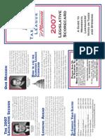 2007 Taxpayers League of Minnesota Scorecard