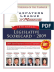 2009 Taxpayers League of Minnesota Scorecard