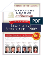 2009 Taxpayers League of Minnesota Scorecard