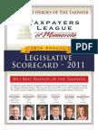 2011 Taxpayers League of Minnesota Scorecard