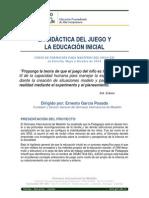 Curso 2014 La Didáctica del Juego y la Educación Inicial