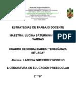 CUADRO DE MODALIDADES ENSEÑANZA SITUADA
