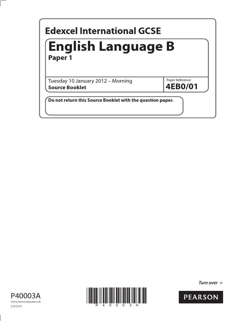 igcse english language b 2012 jan paper 1 source booklet