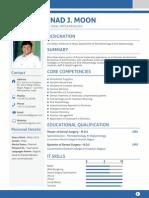 Resume of periodontist, Prof. Dr. Ninad Moon