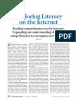 read comprehension internet