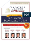 2010 Taxpayers League of Minnesota Scorecard