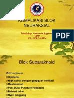 5 Komplikasi Blok Neuraksial Cpd 2012